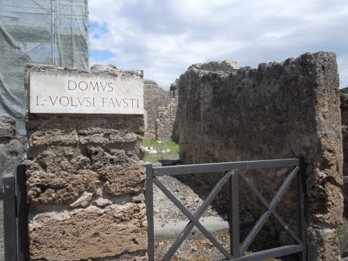 the house of Volusi Fausti in Pompeii