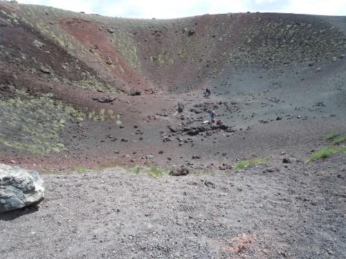dormant crater on the side of Mount Aetna