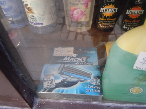 a pack of razor blades: $15 !
