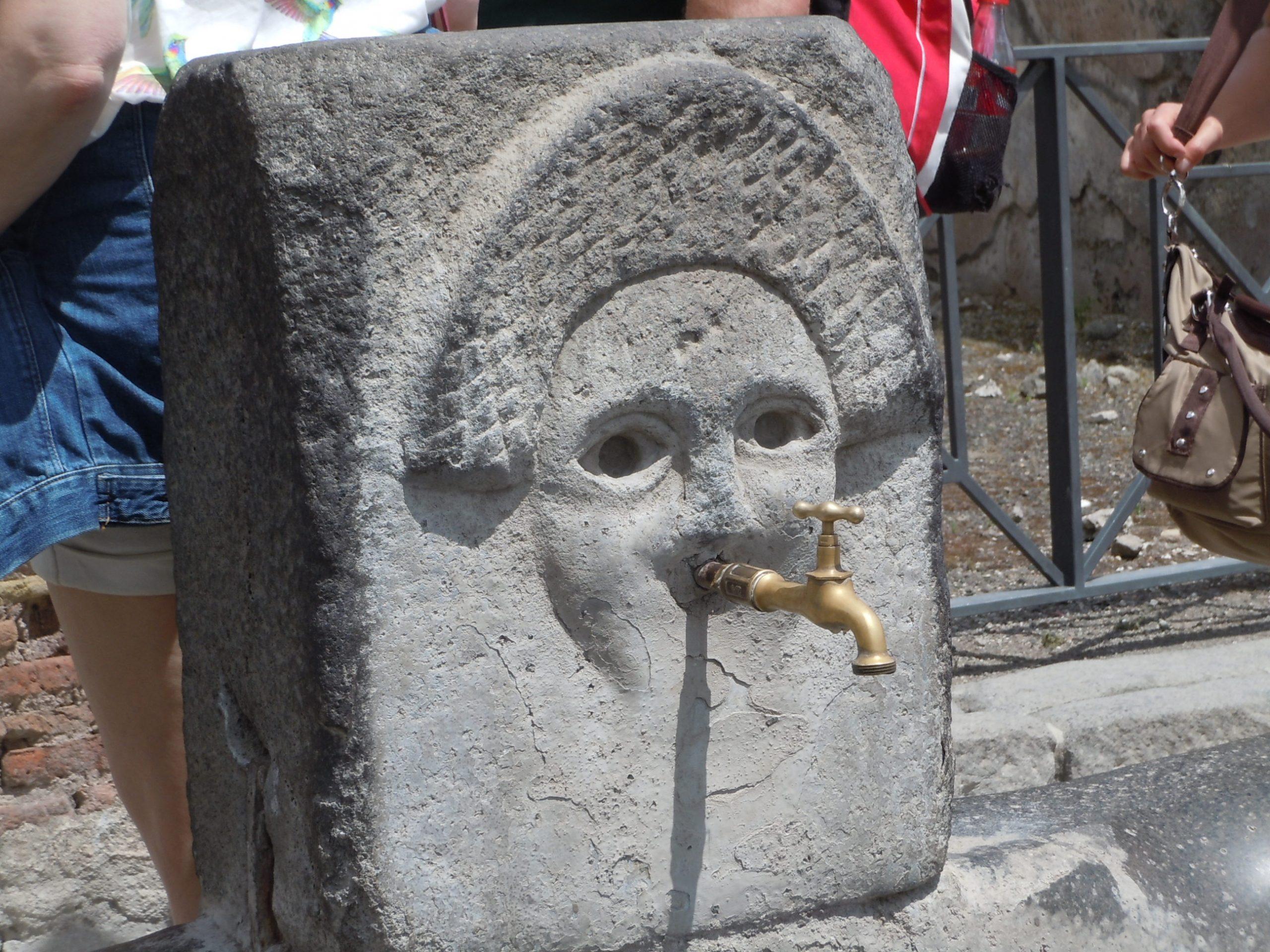 A fountain in Pompei
