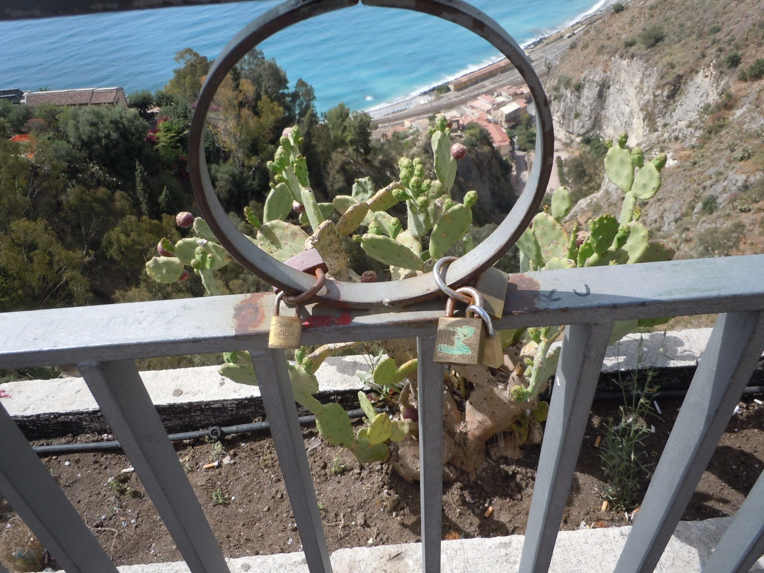 locks attached to an iron fence to symbolize everlasting love