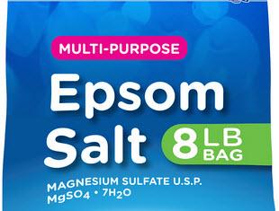 Epsom Salt courtest of WalMart