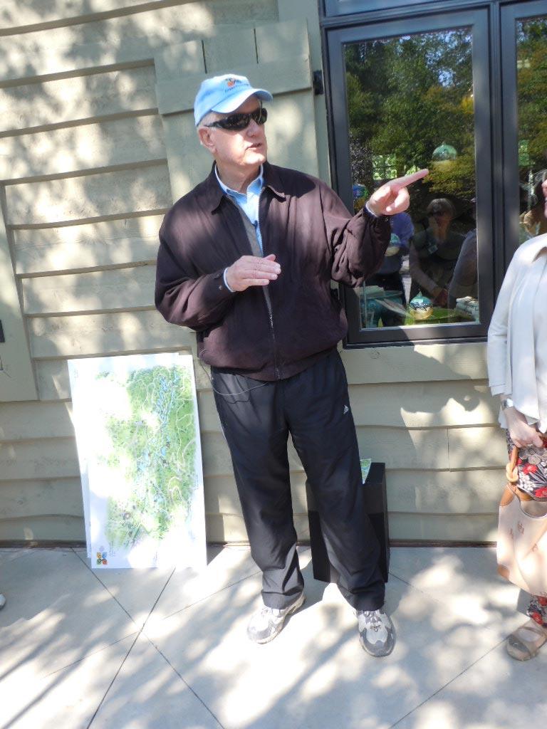 Jim Gibbs at Gibbs Gardens