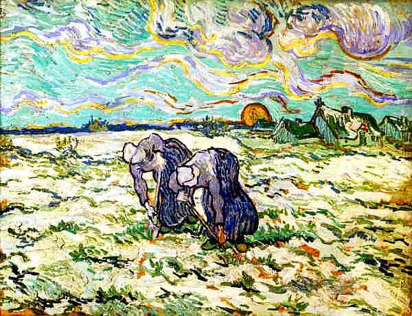 Weeders van Gogh Millet