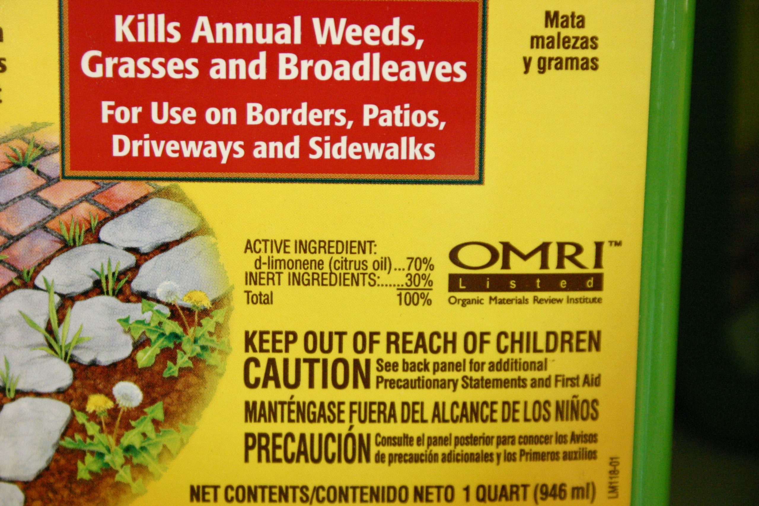 this product has worked well for me, killing small weeds