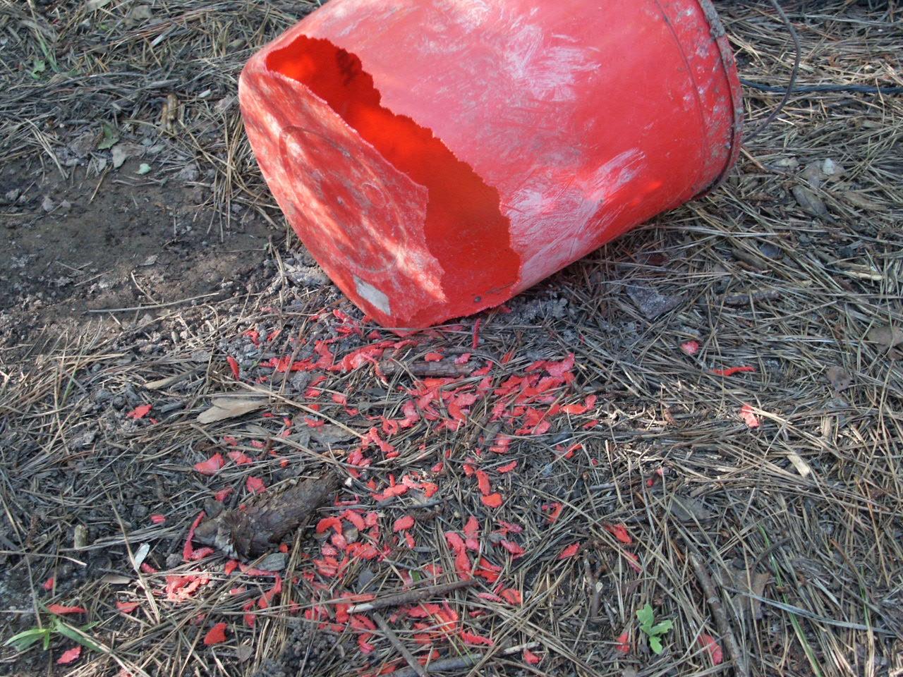 damage to plastic bucket