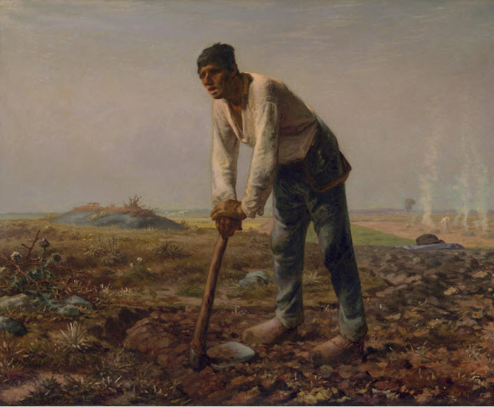 Man With a Hoe - Jean Francois Millet